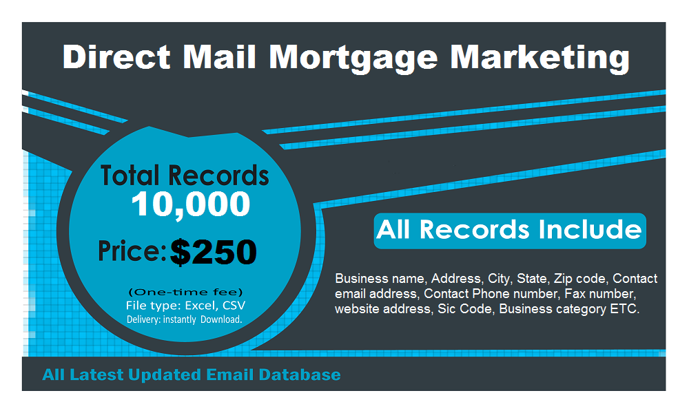 Direct Mail Mortgage Contact List